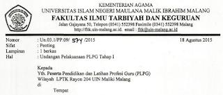 PLPG Kemenang Rayon UIN Malang