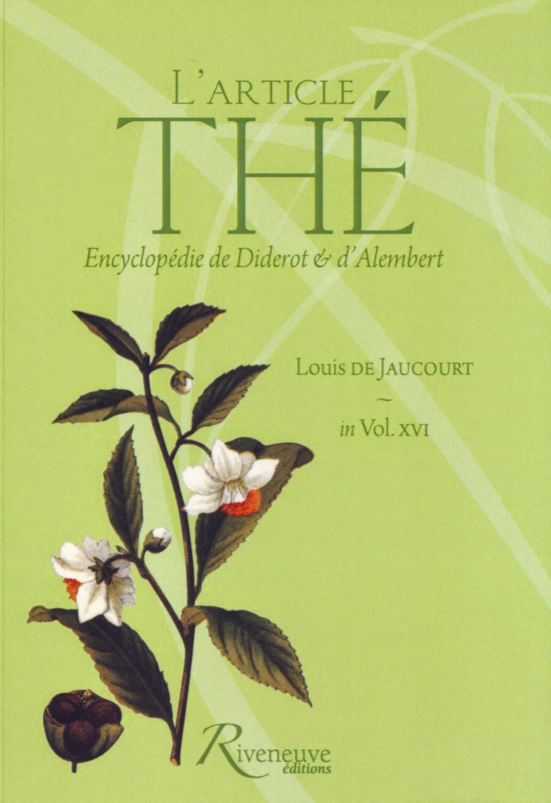livre l'article thé louis de Jaucourt