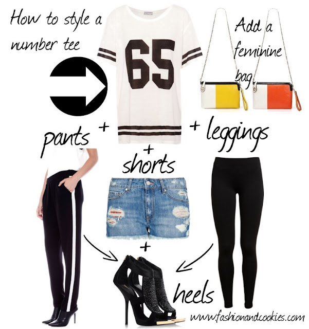 Pull & Bear number tee, sporty chic look, football player top, t-shirt with number, how to style a number tee, Fashion and Cookies