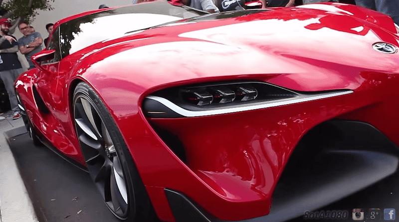 「トヨタFT-1」が米国の自動車イベントに登場して観客にお披露目!