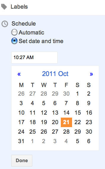 Schedule Blog Post To Publish Automatically In Blogger