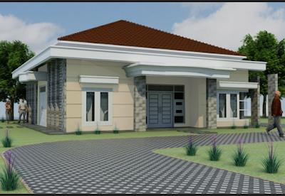rumah minimalis dengan halaman yang luas