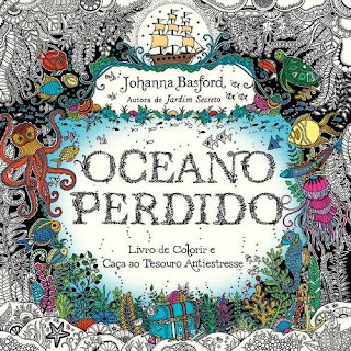 Oceano perdido, Johanna Basford, Editora Sextante