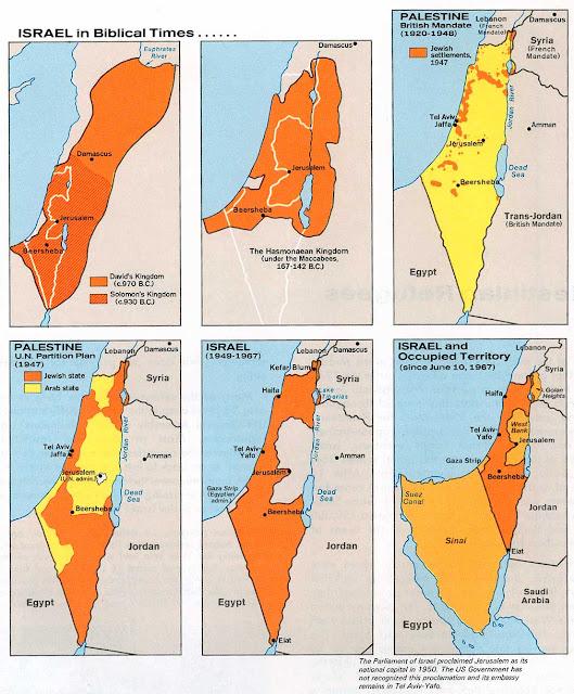 mapa antiguo de israel