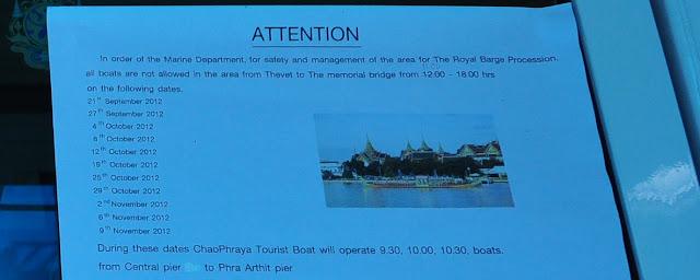 Chao Phraya Tourist Boat Closure Date