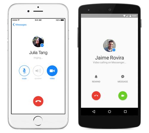 Facebook bổ sung tính năng video call cho Messenger