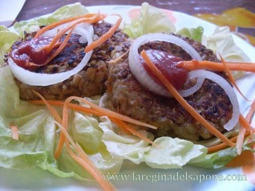La regina del sapone hamburger di lenticchie e cereali vegan - Lenticchie a bagno ...
