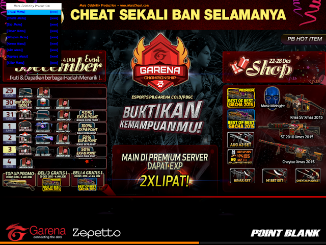Cheat Point Blank Garena Indonesia 2 Januari 2016