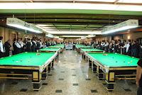 Delegações de nove estados e do Distrito Federal se posicionam na abertura do Campeonato Brasileiro de Sinuca