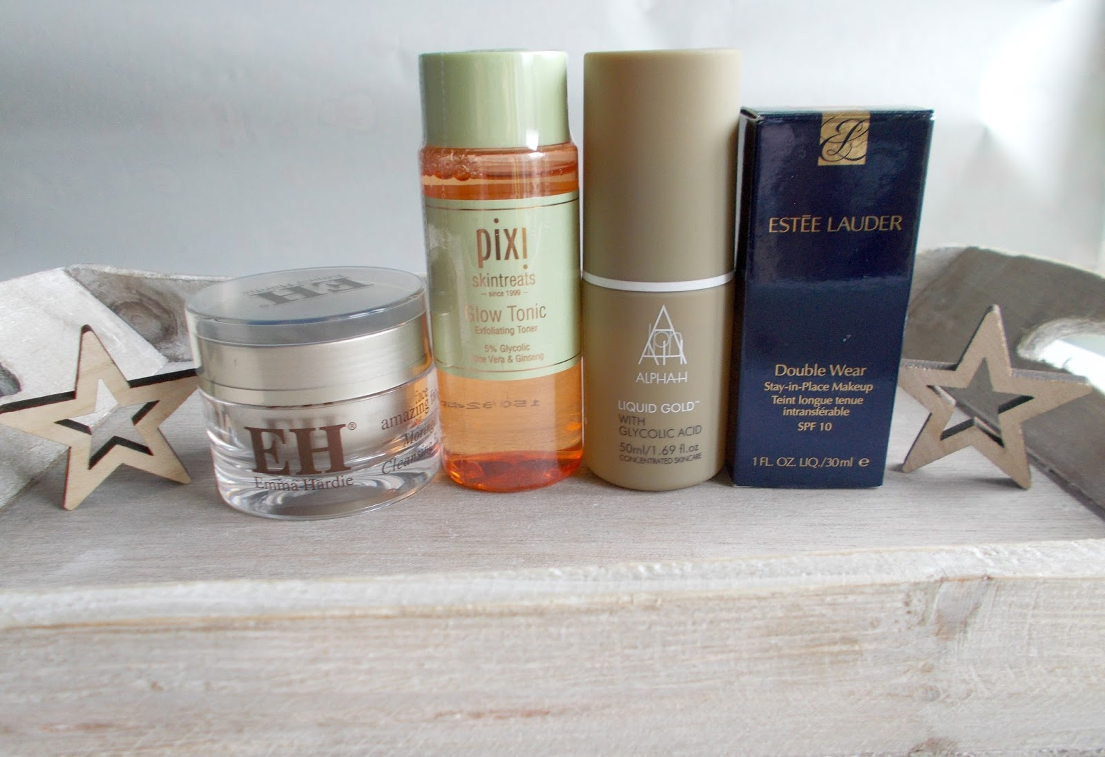 emma hardie moringa cleansing balm pixi glow tonic alpha h liquid gold estee lauder double wear review