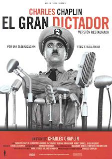 Cartel de 'El gran dictador'
