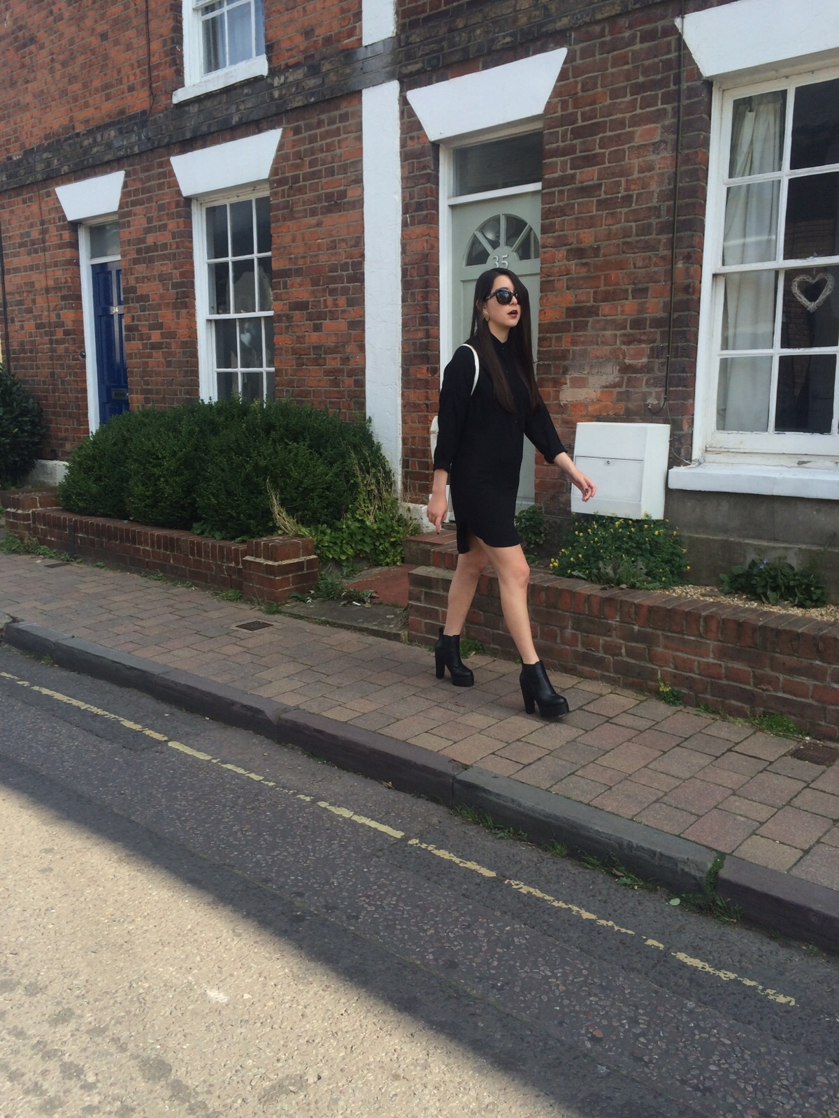 young hungry free, cat eye sunglasses, public desire heeled boots, ootd, outfit post