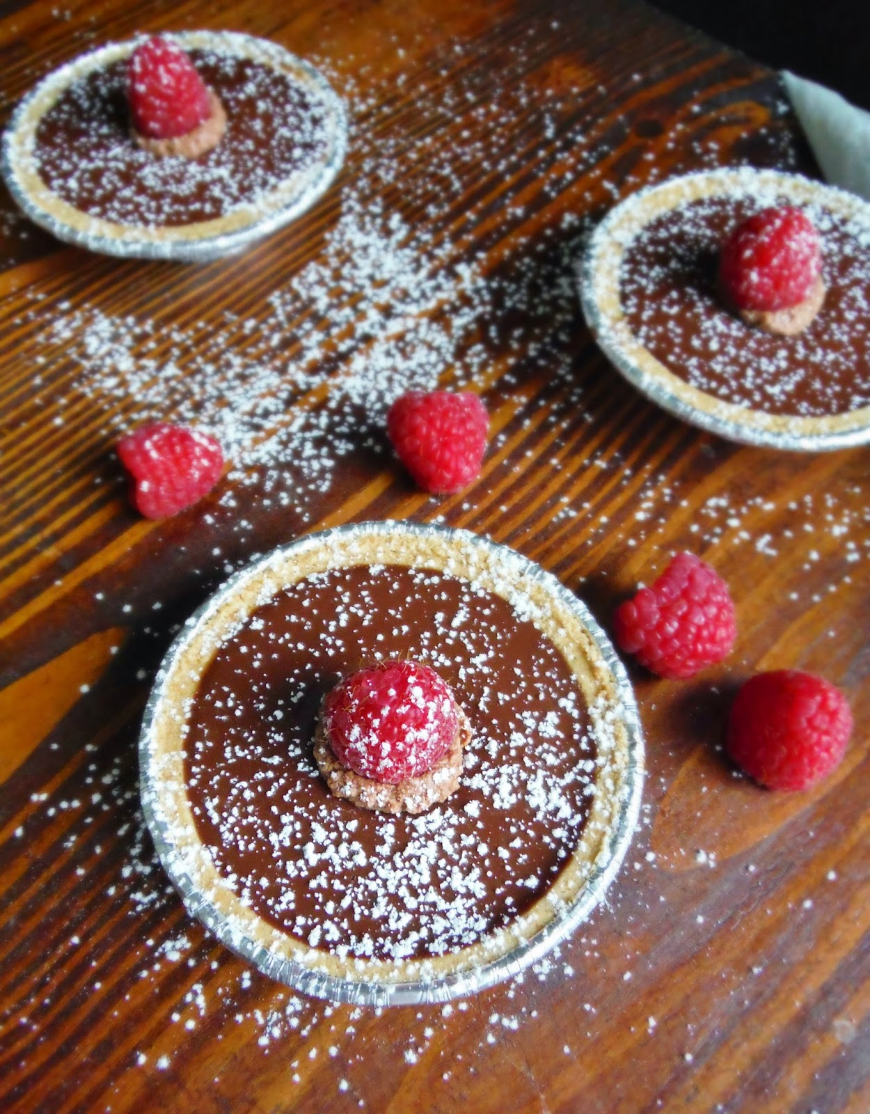 Mini Raspberry Ganache Tarts