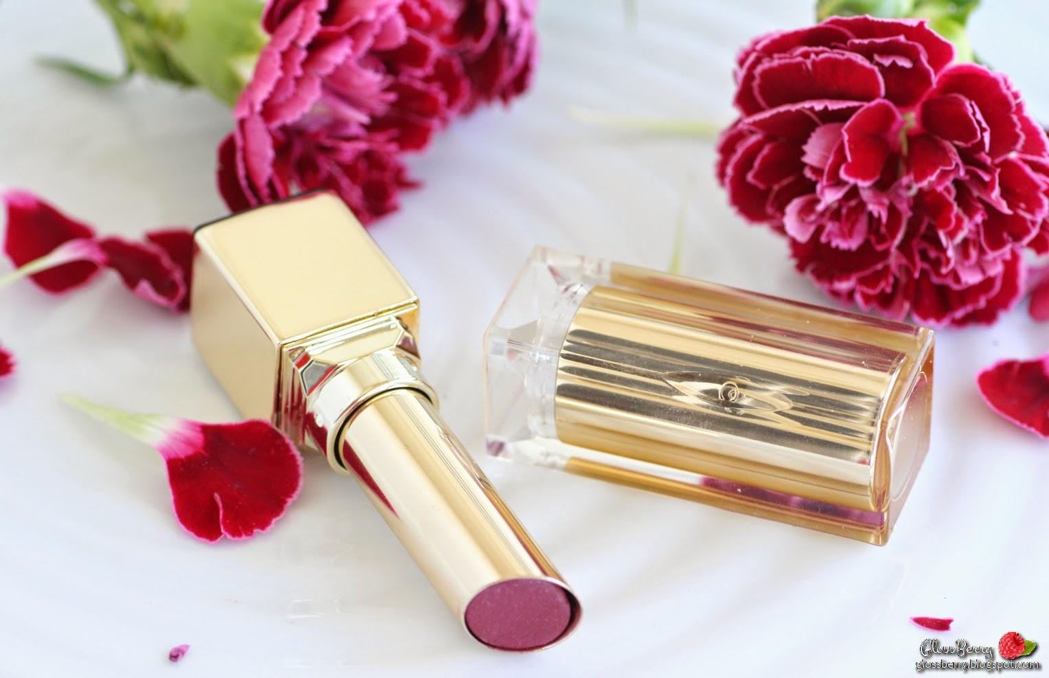 Clarins - Rouge Eclat - 06 True Aubergine review swatches lipswatch lips plum winter lipcolor beauty blog גלוסברי בלוג ביוטי איפור וטיפוח שפתון קלרינס מומלץ לסתיו חורף שזיף חציל סגול סקירה