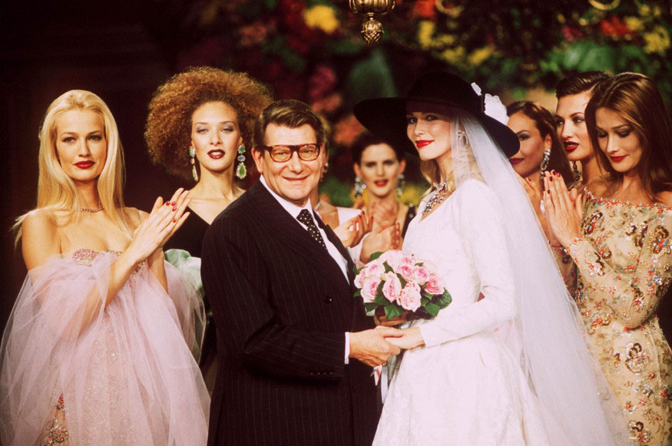 Yves Saint Laurent at couture show