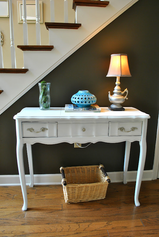 Amazing Grays Vanity Turned Sofa Table Turned Entry Table