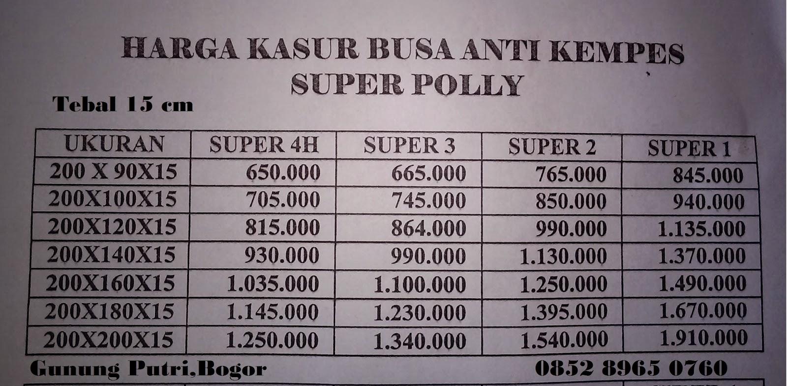 Harga Kasur Busa Murah Bandung Images