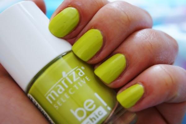 Kolorowe Lato na paznokciach - Limonkowa Mariza
