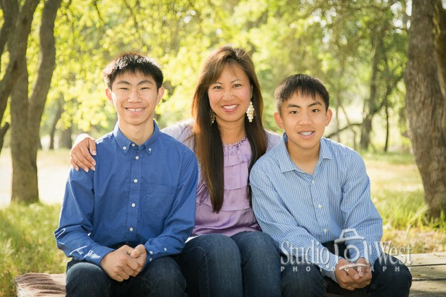 Mother and Sons portrait - Family Portraits - San Luis Obispo Family Portraits - Studio 101 West Photography