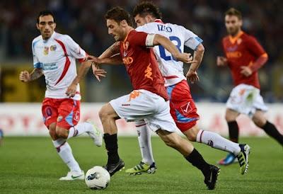 Roma Catania 2-2 highlights sky