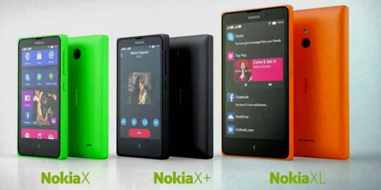 Daftar Harga Nokia X, Nokia X Plus, dan Nokia XL