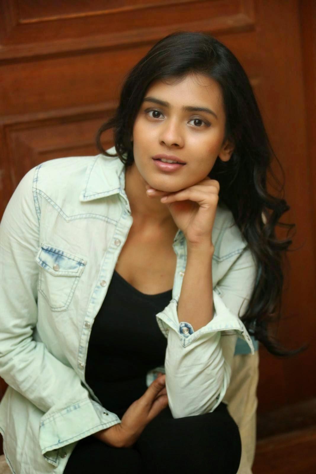 Hebah Patel Lovely Black Figure hugging Dress Jacket at Ala Ela movie 30 Days Event