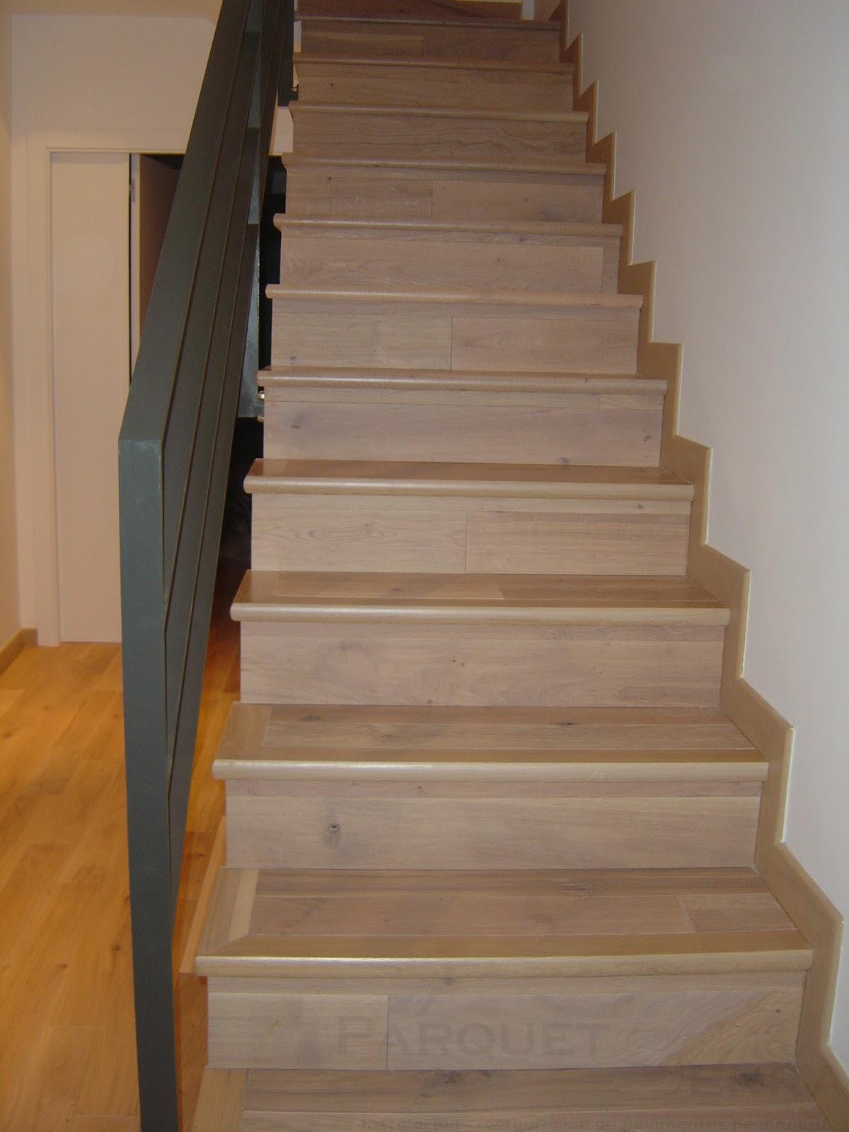 Revestir una escalera con parquet o laminado - Revestimiento para escaleras ...