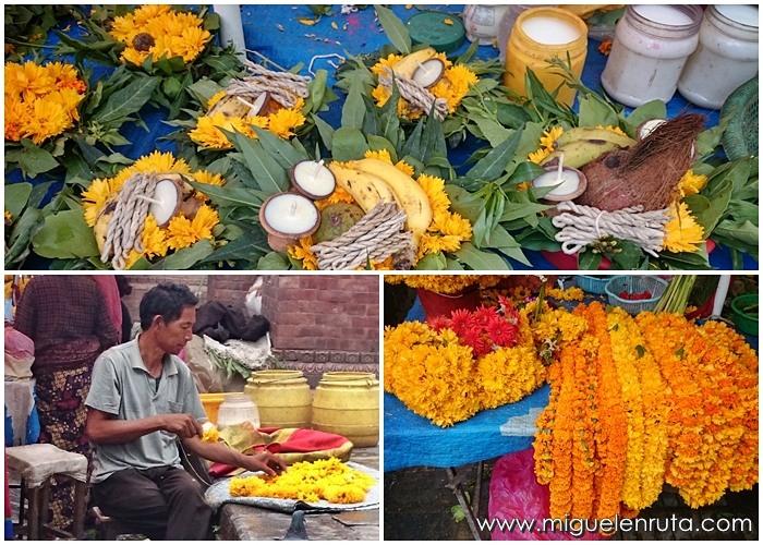 Templos-Katmandu-ofrendas