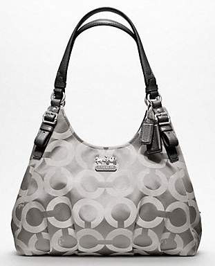 Coach Madison Maggie Shoulder Bag In Op Art Multi Sateen Fabric 18