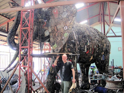 Sculptures Made From Recycled Automobile Parts by Tom Samui Seen On www.coolpicturegallery.us