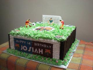 Contoh Kue Ulang Tahun Anak Laki-Laki Tema Sepak Bola Kaki