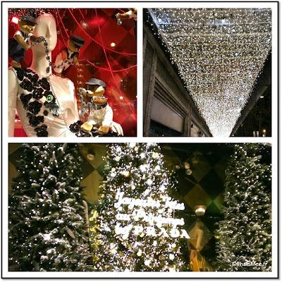 Vitrines Noël grand magasins Paris Galerie Lafayette Printemps Haussmann déco noel