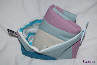 diaper bag with wound pad blue by flunsal.de
