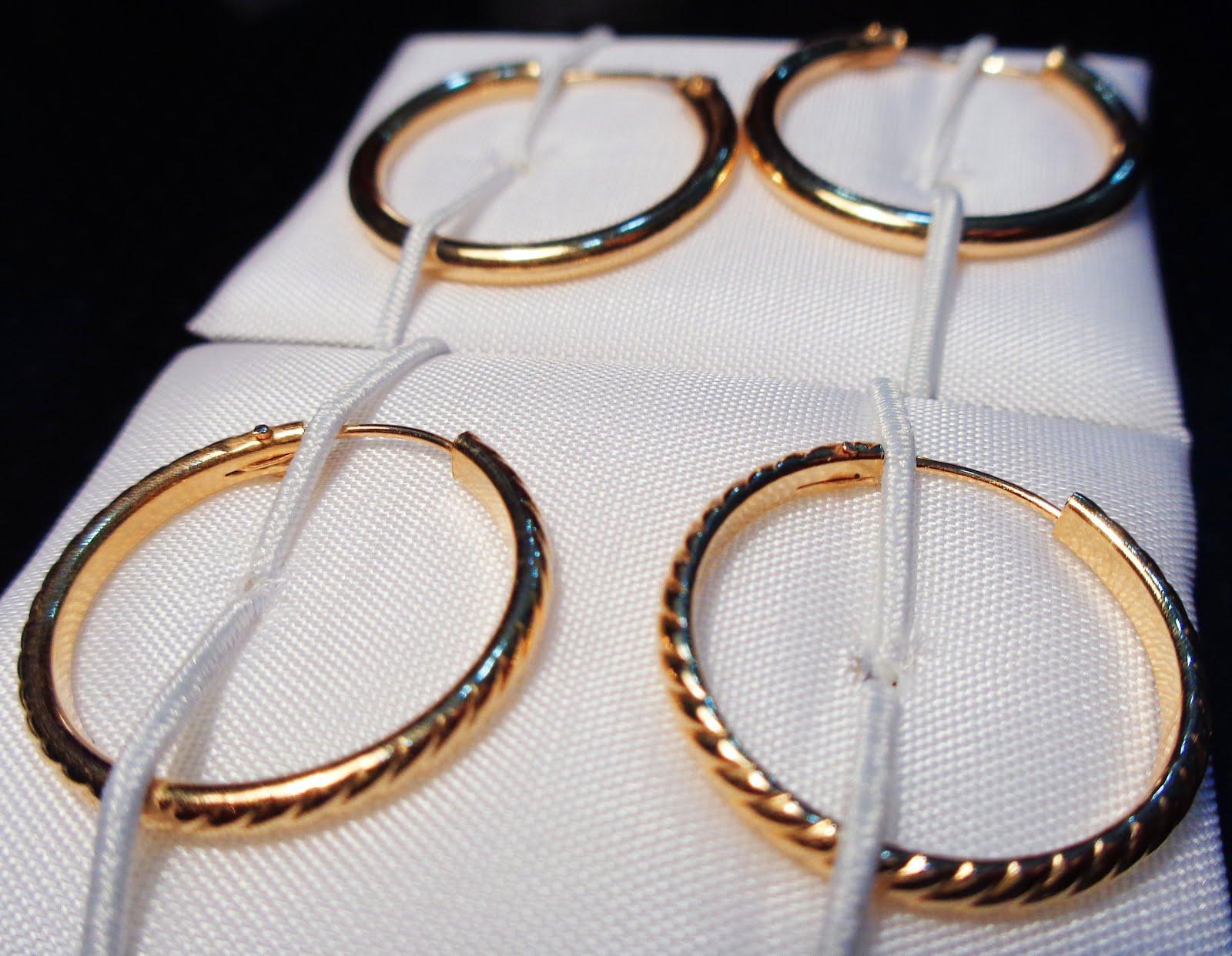 Pendientes de oro de aro
