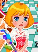 Веселая уборка - Онлайн игра для девочек