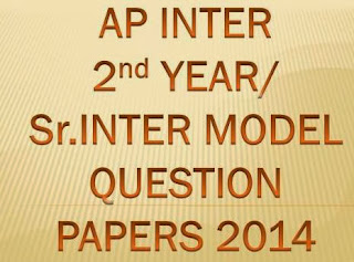 AP Intermediate 2nd Year / Sr Inter Model Question Papers 2014 at www.bieap.gov.in