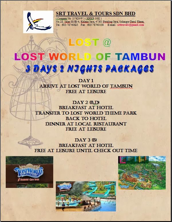 Srt Travel Tours Sdn Bhd Lost Lost World Of Tambun