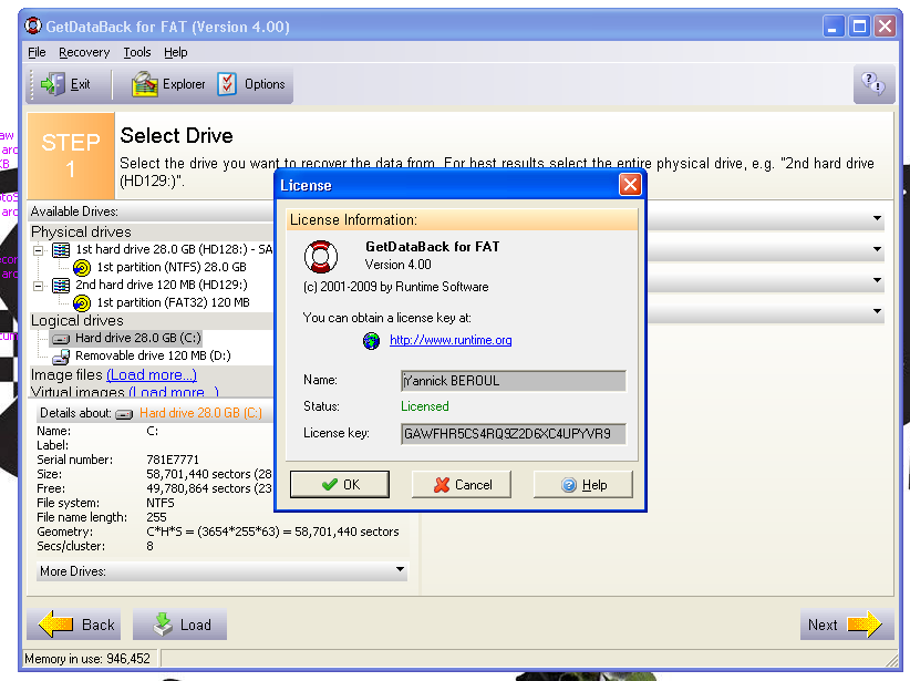 Download Runtime GetDataBack FAT NTFS v4. 32 with Key. Rar free.