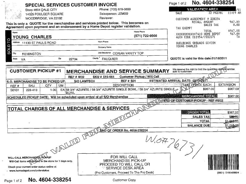 proforma invoice for services