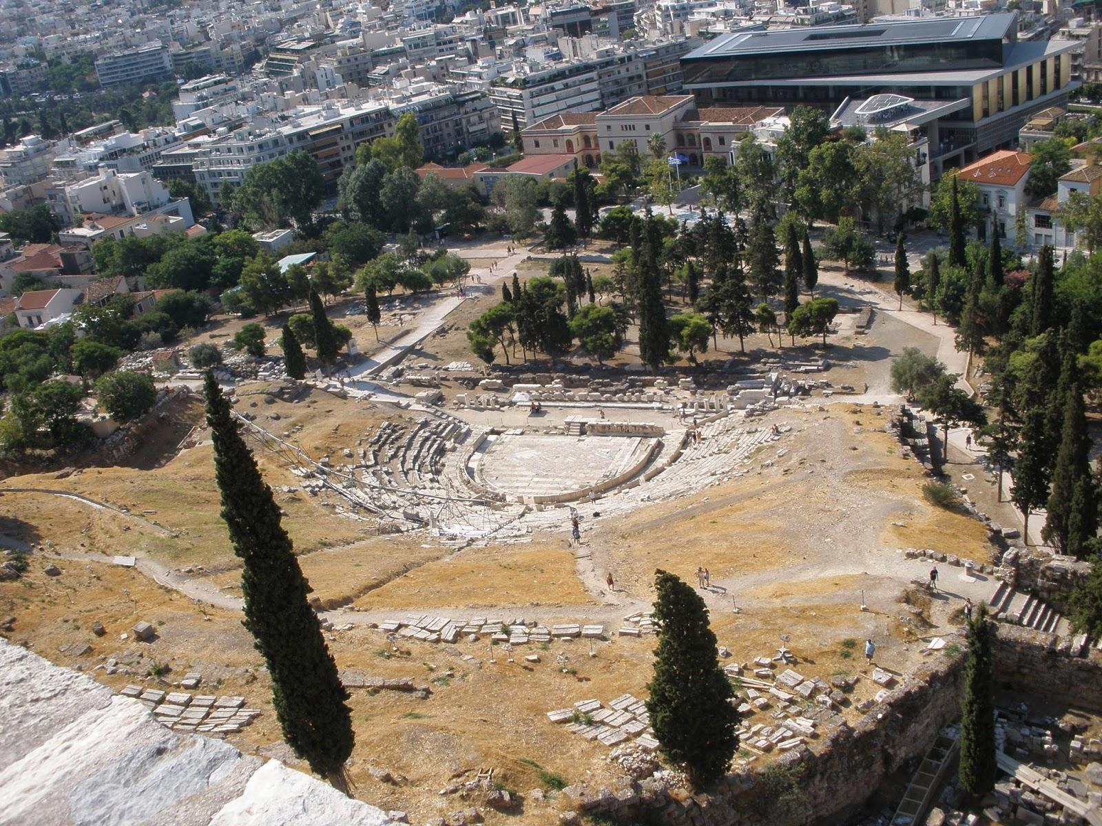 Teatro de Dioniso, uno de los más importantes de la época.