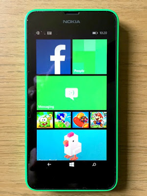 Morgan's Milieu | Choosing a Mobile Phone for Your Child: Nokia Lumia 635, home screen.
