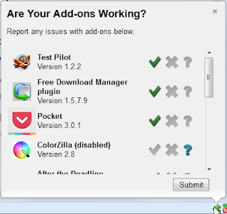 Report compatibility of Firefox add-on