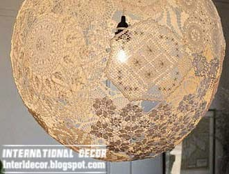 Easy steps to make Lace Lamp with your own hands:,Lighting