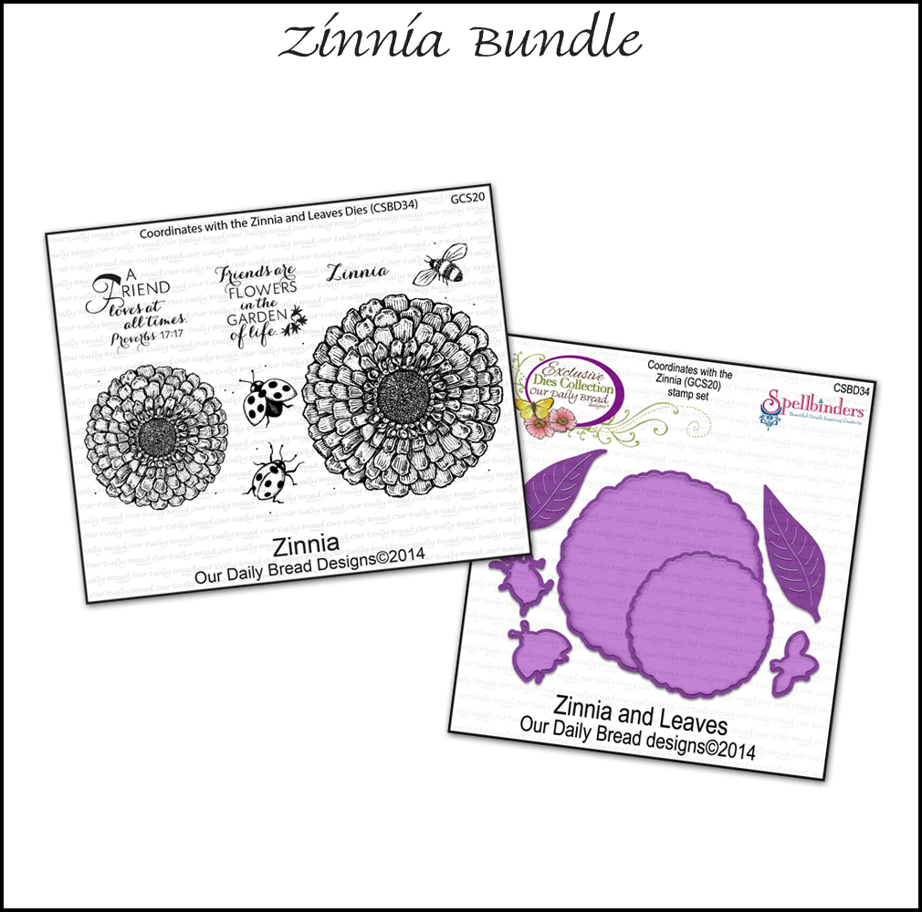 Stamps - Our Daily Bread Designs March 2014 Zinnia Bundle