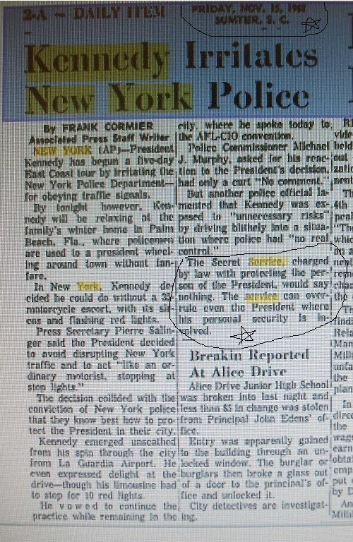 So much for Gerald Blaine and his propaganda- 11/15/63 AP news story