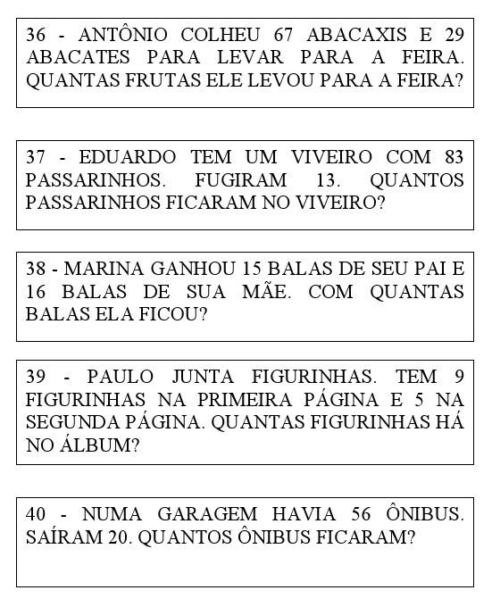 Pedagogia Século XXI: 40 PROBLEMAS DE MATEMÁTICA 2° ANO DESAFIOS P