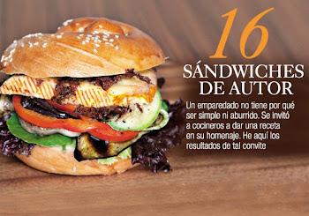 Sandwich de queso ahumado crocante y vegetales grille