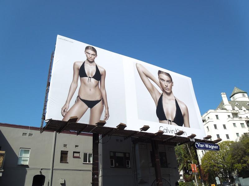 Calvin Klein Summer 2013 bikini babe billboard