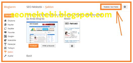 2 Önemli Yöntemle Blogger Hazır Tema Yükleme Resimli Anlatım