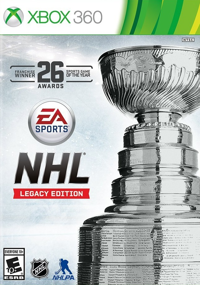 NHL Legacy Edition XBOX 360 Cover Caratula